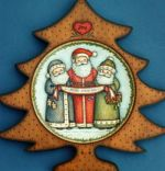 Three Jolly Santas! (Tree Plate)